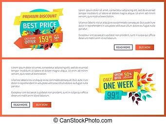 Premium Discount Best Price Vector Illustration