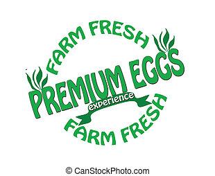 Premium eggs