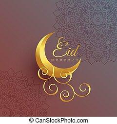 premium eid mubarak creative moon festival design