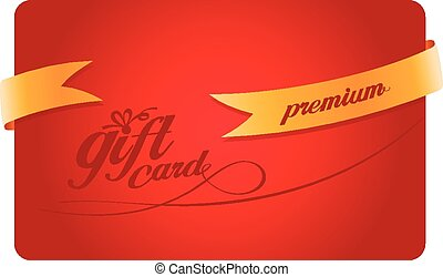 Gift card with gold ribbon.