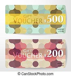 Premium Gift Voucher Template vector illustration eps 10