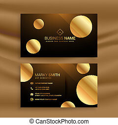 premium golden circle business card