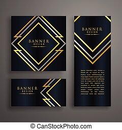 premium golden invitation card design