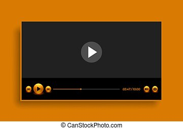 premium golden style video player template design