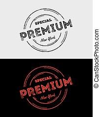 Premium Grunge Logo & Badges