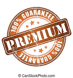 Premium guarantee stamp