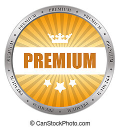 Premium icon isolated on white