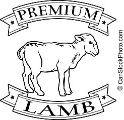 Premium lamb food label