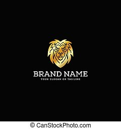 premium lion head logo vector