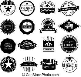 Premium logo set in retro vintage style - 100% gaurantee,...