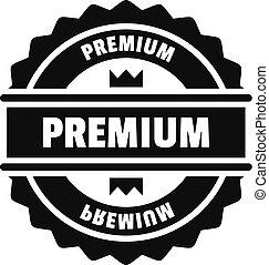 Premium logo, simple style.