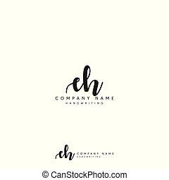 Premium Luxury EH initial logo - EH logo initial with luxury...