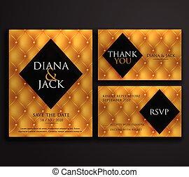 premium luxury wedding invitation card design