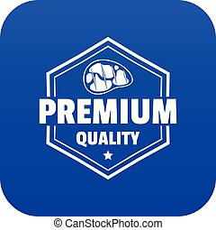 Premium meat quality icon blue vector