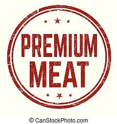 Premium meat sign or stamp
