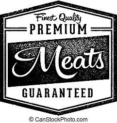 Premium Meats Butcher Shop Market Stamp