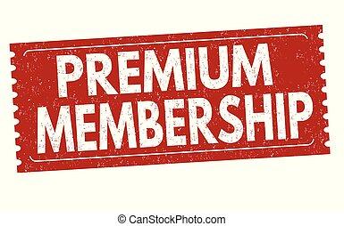 Premium membership grunge rubber stamp