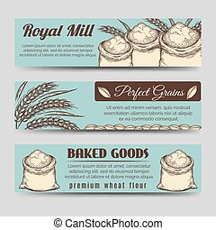 Premium mill product banners template