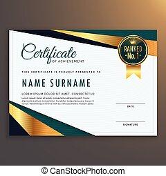 premium modern certificate template vector design