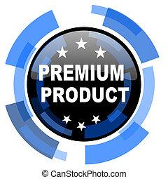 premium product black blue glossy web icon