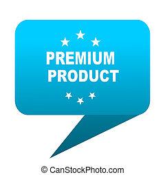 premium product blue bubble icon