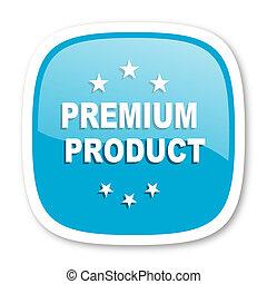 premium product blue glossy web icon