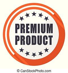 Premium product flat design orange round vector icon in eps 10