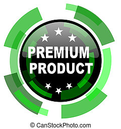 premium product icon, green modern design isolated button, web and mobile app design illustration
