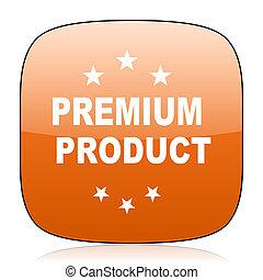 premium product orange square web design glossy icon