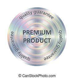 Premium product round hologram sticker.