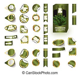Premium product sticker tags green