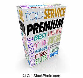 Premium Product Top Best Package Box 3d Illustration