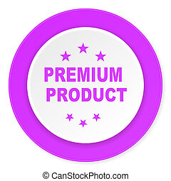 premium product violet pink circle 3d modern flat design icon on white background