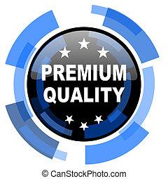 premium quality black blue glossy web icon