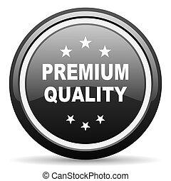 premium quality black circle glossy web icon