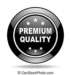 premium quality black glossy icon