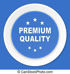 premium quality blue flat design modern web icon