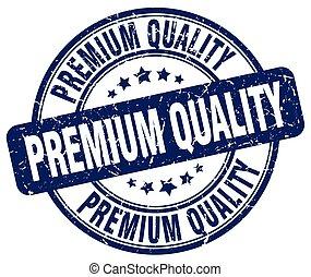 premium quality blue grunge round vintage rubber stamp