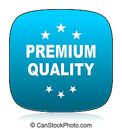 premium quality blue icon