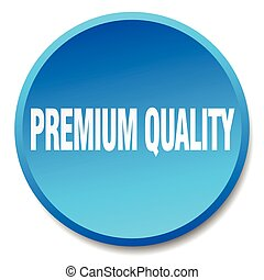 premium quality blue round flat isolated push button