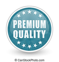 Premium quality brillant crystal design round blue web icon.