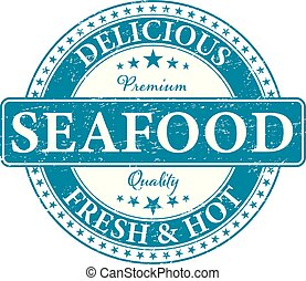 premium quality delicious fresh and hot seafood food stamp