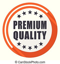 Premium quality flat design orange round vector icon in eps 10