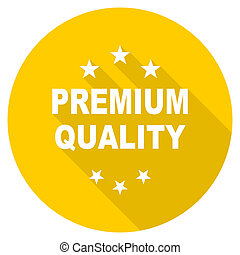 premium quality flat design yellow web icon
