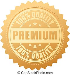 Premium quality gold label