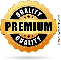 Premium quality gold vector icon