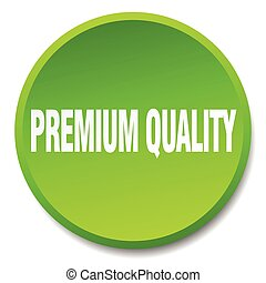premium quality green round flat isolated push button