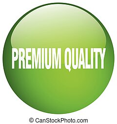premium quality green round gel isolated push button