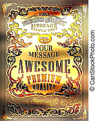 Premium Quality, Guarantee typography design ?an be used for invitation, congratulation or website
