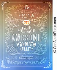 Premium Quality, Guarantee typography design .Vector blur...